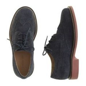 Crewcuts Boys Blue Suede Oxford Shoes